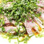 【オリーブオイルレシピ】青魚のカルパッチョ